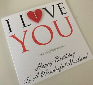 Image Is Loading Personalised Handmade Birthday Card Husband Wife Fiance Girlfriend