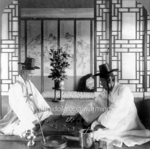 "Photo c1903 Korea War Minister /""Go-Ban/"" Oriental Chess"