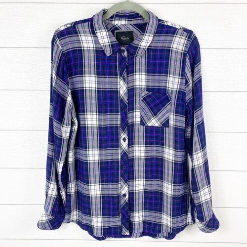 Rails Women's Medium Flannel Shirt Button Up Plaid