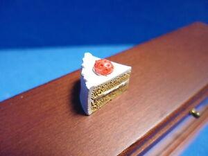 1 - 12 échelle maison de poupées miniature alimentaire FRAISE Gâteau slice dhd-k26-1-afficher le titre d`origine Flm3ar7p-08133130-383209362