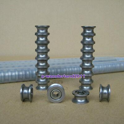 20pcs 624UU U Groove Sealed Ball Bearings Ugroove 4X13X7mm 2mm deep FSH