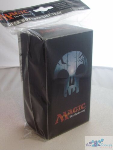 MANA V SWAMP BLACK ULTRA PRO DECK BOX WITH DICE TRAY FOR MTG CARDS