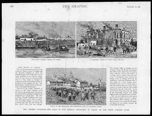1891-Antique-Print-CHINA-Ichang-Upper-Yangtze-River-Outrages-Riots-239