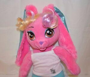 "Build A Bear Stuffed Animal Honey Girls Risa Bunny Rock Star Sound Chip 20"" Toy"