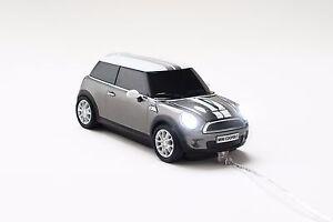 Click Car Mini Cooper Silver Wired Mouse + BONUS Maserati 4GB USB Memory Stick