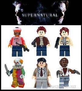 SUPERNATURAL-x-6-set-SAM-DEAN-BOBBY-CASTIEL-fits-lego-figures