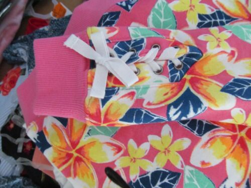 Pink Tropical FLOWERS French Terry Top~Girl/'s Size 10-12 ~NEW w//tags