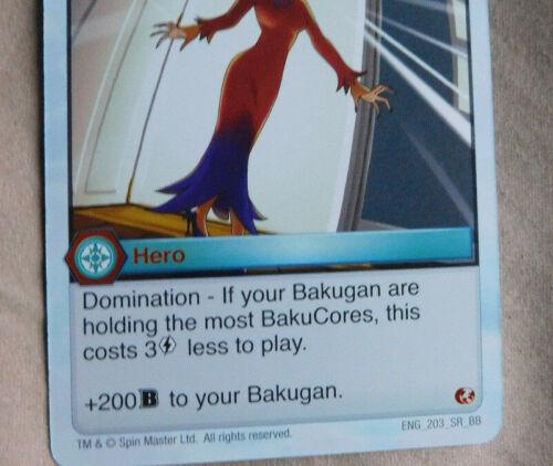 BAKUGAN Battle Brawlers Battle Planet PHILOMENA DUSK HERO Card 203/_SR/_BB