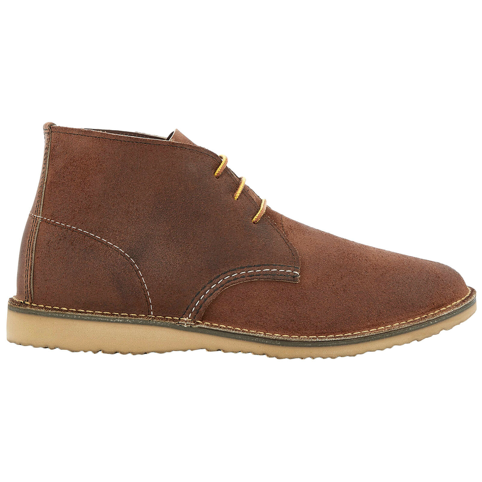 rojo Wing Weekender Chukka Leather Casual Lace-Up Ankle Derby Mens botas