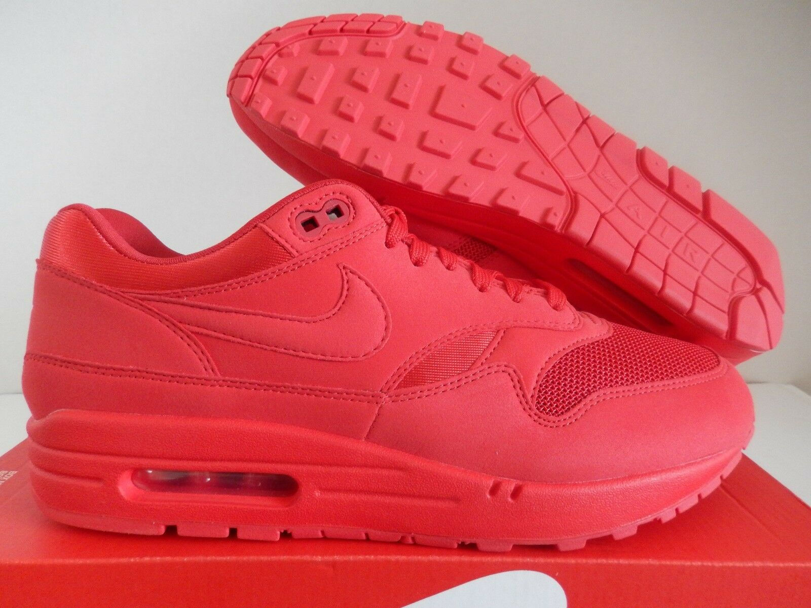 NIKE AIR MAX 1 PRM PREMIUM UNIVERSITY RED