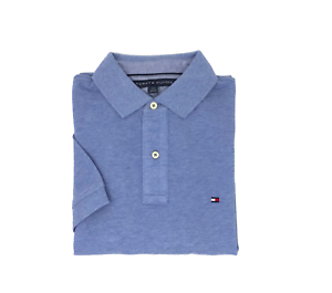 NWT-Tommy-Hilfiger-Men-039-s-Blue-Short-Sleeve-Polo-Shirt-Select-Size
