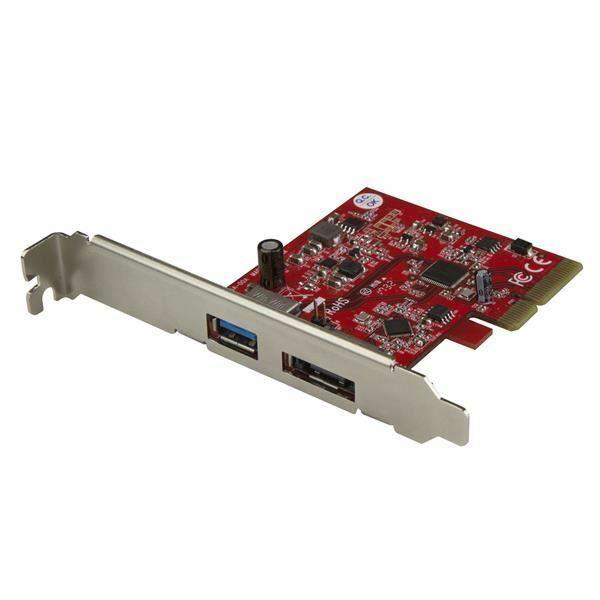 StarTech.com 2-Port USB 3.1 10Gbps and eSATA PCIe Card - 1x USB-A and 1x eSATA