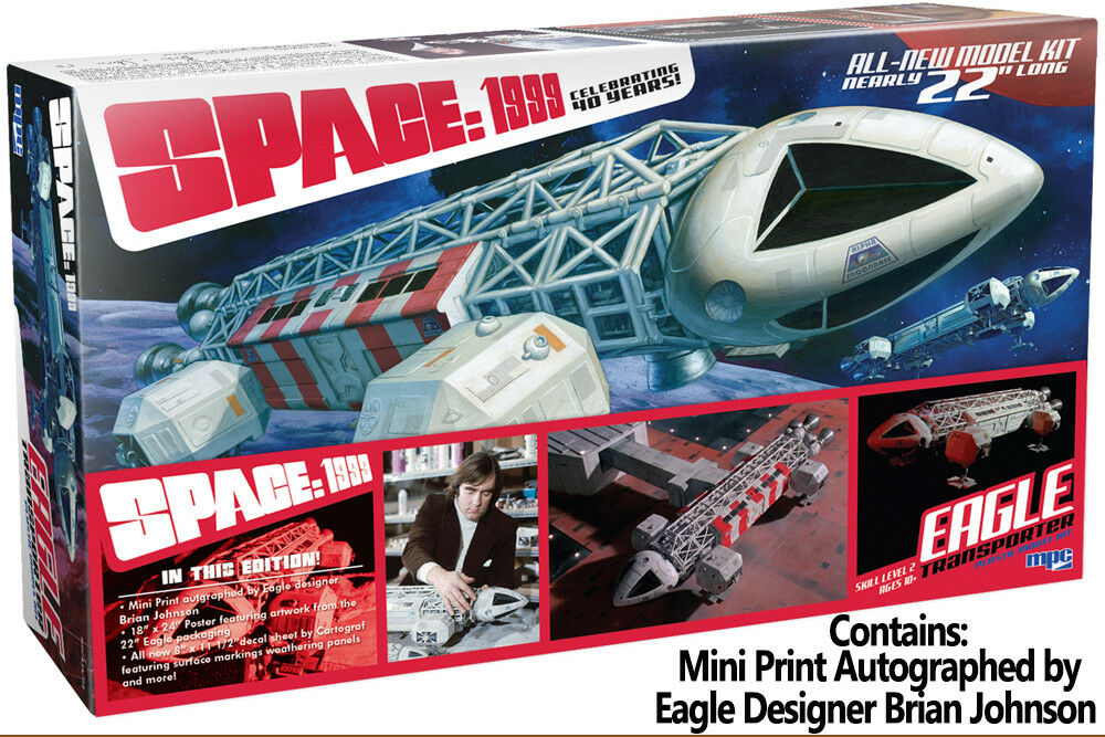 Space 1999 Spazio Eagle Transporter Limited Ed. & Print 1/48 Model Kit Montaggio