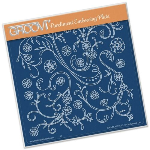 Groovi Claritystamp Embossing Plate A5 Sq ~ Jayne/'s Flourishes GRO40318