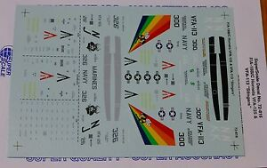 Microscale Decal 1:72 Scale #72-816 / F/A-18B/C Hornets: VFA-125 & VFA-113 Sting