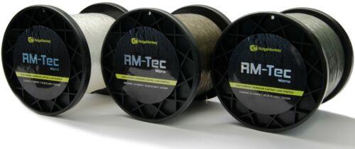 Ridgemonkey RM-Tec Mono Mainline Monofilament Ridge Monkey Line 1200m All Models