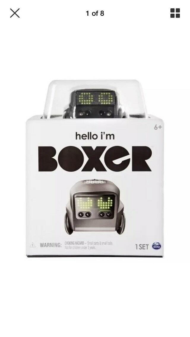 Boxer Interactive Toy AI Robot Personality Emotions Card Games Remote Control
