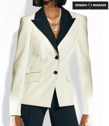 040564 elegante Blazer 34 36 Singh S Madan ECRU € 129 NUOVO Station WAGON preziose style