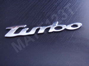 2nds-self-adhesive-chrome-TURBO-3D-decal-badge-logo-decorative-2nds