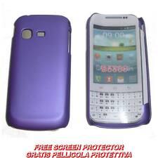 Pellicola + custodia BACK cover VIOLA per Samsung Galaxy Chat B5330