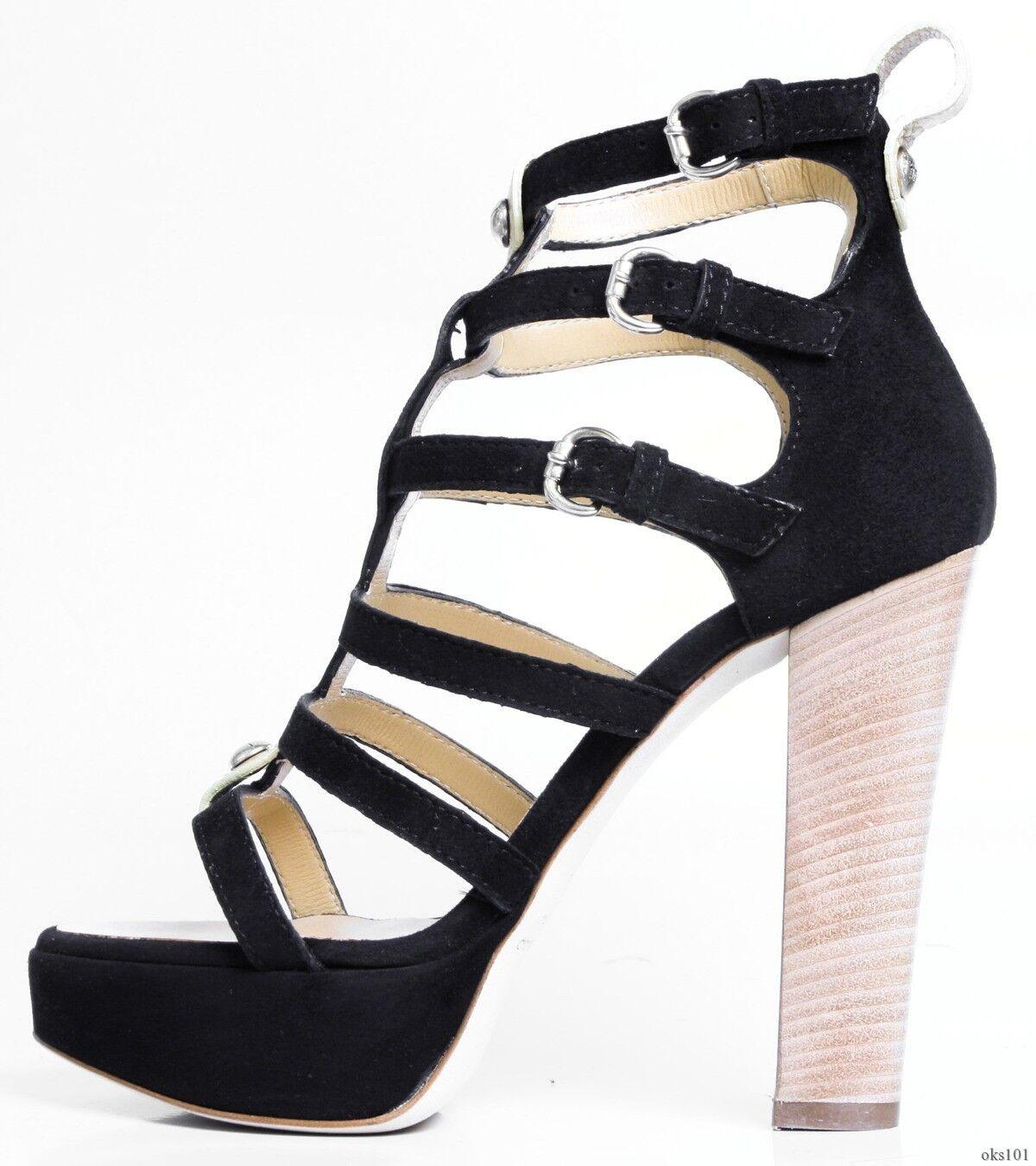 promozioni di squadra New  795 Giuseppe ZANOTTI nero nero nero suede GLADIATOR platforms open-toe scarpe - SEXY  vendita scontata