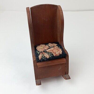Dollhouse Miniatures Furniture Wooden Garden Outdoor Seat Bench Accessories TSJB