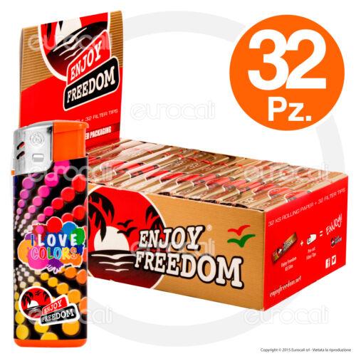 1024 Cartine e 1024 Filtri in Carta ENJOY FREEDOM Lunghe Slim 32pz KingSize