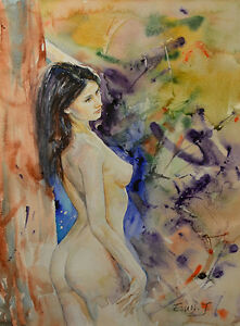 Contemporary-Art-Original-Painting-by-American-Artist-Grace-Eun-Jung-Nude