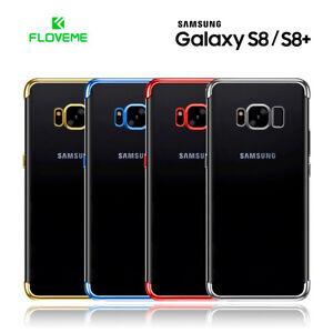 Funda-Samsung-S8-y-S8-Plus-silicona-transparente-con-bordes-metalizados-FLOVEME