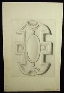 Eugène Cornet Dessin Xixe Original Frise / Décoration Selon L'antique 45cm 1883 Des Performances InéGales