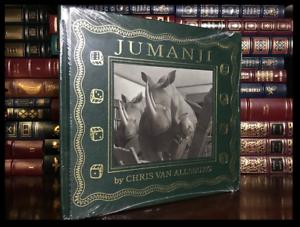Jumanji-SIGNED-by-CHRIS-VAN-ALLSBURG-New-Easton-Press-Leather-Bound-Hardback