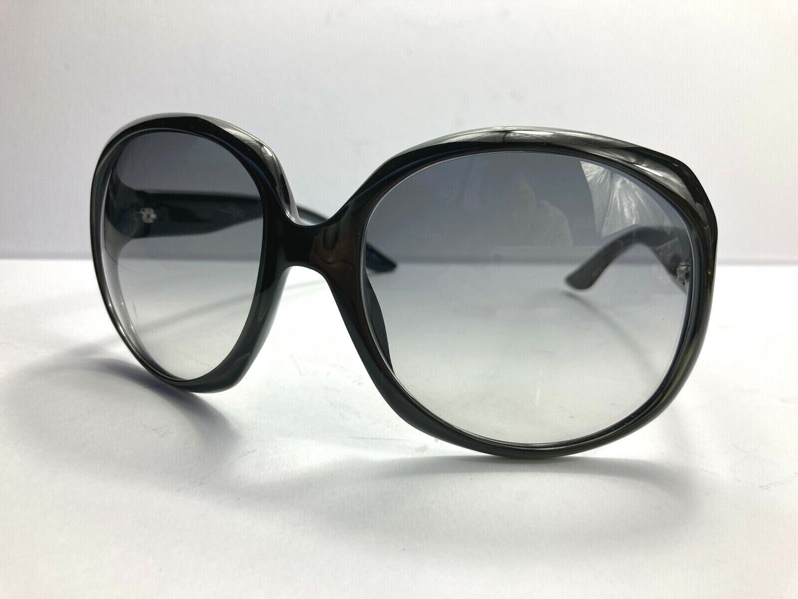 CHRISTIAN DIOR GLOSSY ICONIC SUNGLASSES OVERSIZED GRADATION CLEAR GRAY ITALY