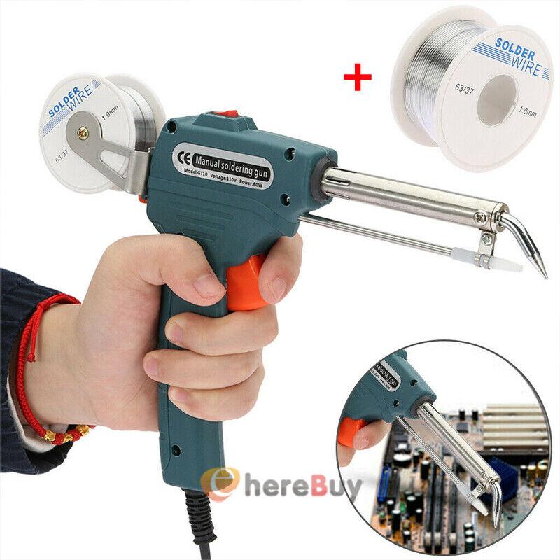 110V 60W Electric Soldering Iron Gun Adjustable Temperature Welding Tool Kit Set