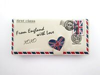 Shagwear Wallet From England With Love Ivory Snap Tab Zippered Wallet