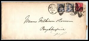 1892 US Postal History Cover - New York, NY to Poughkeepsie, NY G3