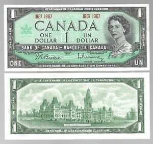 Canada-One-Dollar-1-1867-1967-WITHOUT-SERIAL-UNC-Banknote