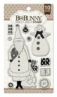 New Bo Bunny Clear Stamps Stamps Holly Jolly Stamps