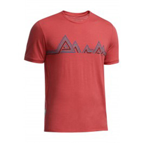 Icebreaker Tech Lite SS Crew Mountain Beat Top (L) Clay