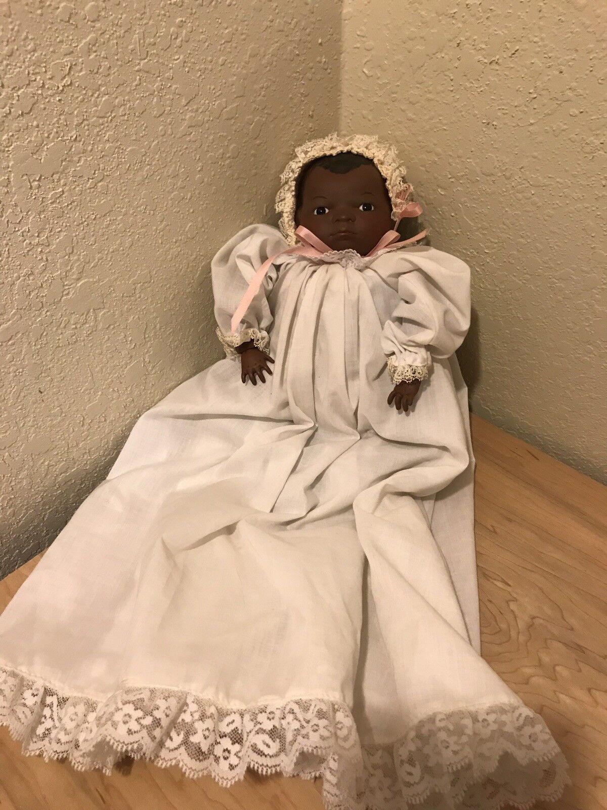 Grace S Putnam Vintage Rana Cuerpo African American Baby Doll-Alemania