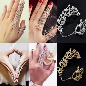 midi rings finger stack knuckle band set womens