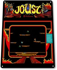 Joust-Classic-Bally-Midway-Arcade-Marquee-Game-Room-Wall-Decor-Metal-Tin-Sign