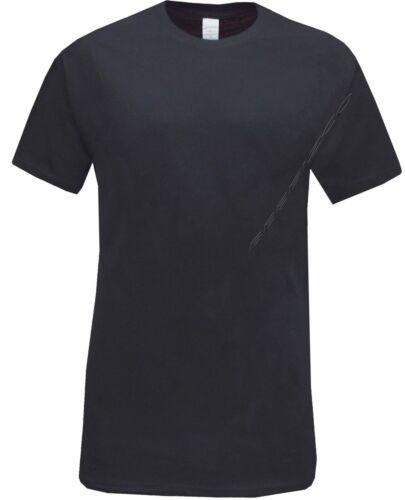 Shirt M XXL New 6 Pack Mens Black 100/% Cotton Short Sleeve Plain Crew Neck T