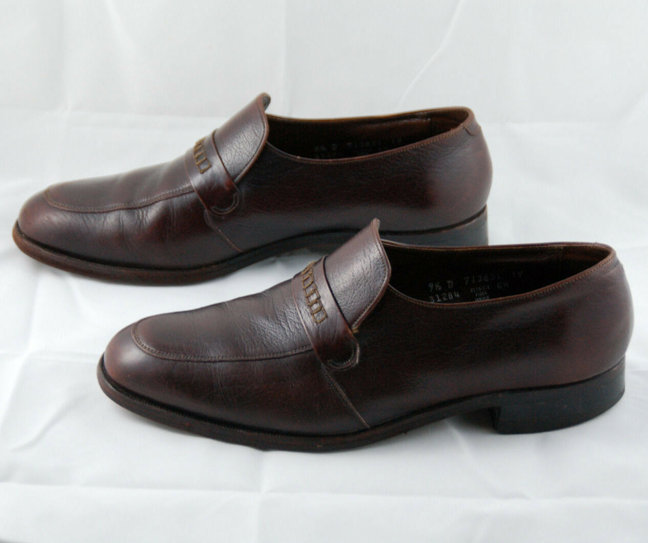 Florsheim Brown Leather Loafers Men's On Size 9.5 D Slip On Men's Flex Fiber Insole Shoes f8d7d4