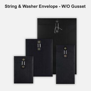 String-amp-Washer-Envelopes-Button-amp-Tie-Mailer-in-Black-Color-With-All-Qty-039-s