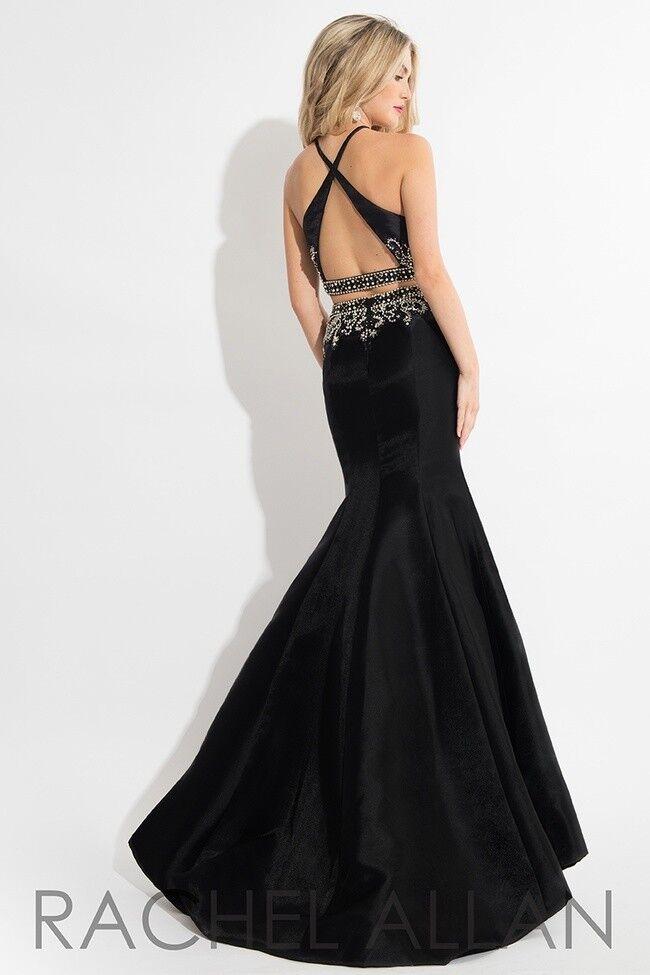 Authentic Rachel Allen 7649 Robe--Couleur noir -Taille 10-Prom Robe-Reg  498