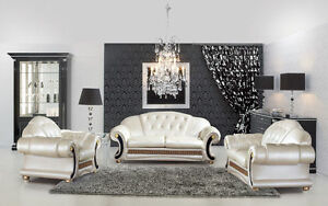 Image Is Loading Versace Leather Sofa In 3 Seater Amp 2