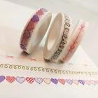 1 Roll 1.5cm*5m Washi Adhesive DIY Paper Sticker Tape Sticky Decorative Masking