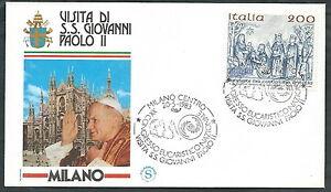 1983 Vaticano Viaggi Del Papa Milano - Sv