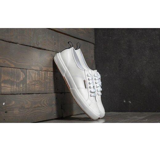 design semplice e generoso scarpe da ginnastica SUPERGA SUPERGA SUPERGA in pelle 2750 FGLU -50% num.42 NEW scarpe leather scarpe bianco  prendi l'ultimo