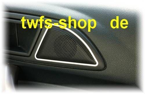 D Ford Fiesta JA8 08- Chrom Rahmen für Lautsprecher vorne k  - Edelstahl poliert